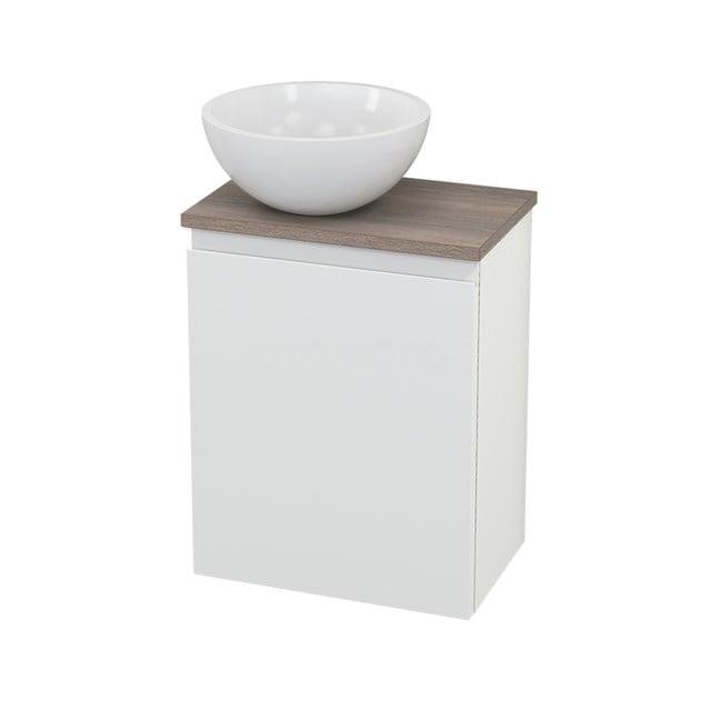 Toiletmeubel met Waskom Mineraalmarmer Glanzend Modulo+ Pico Mat Wit 41cm BMC000221