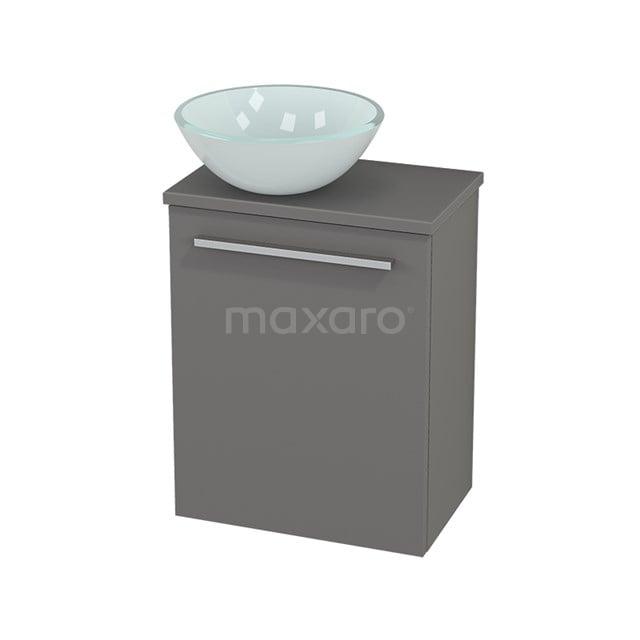 Toiletmeubel met Waskom Glas Modulo+ Pico Basalt 41cm BMC000226
