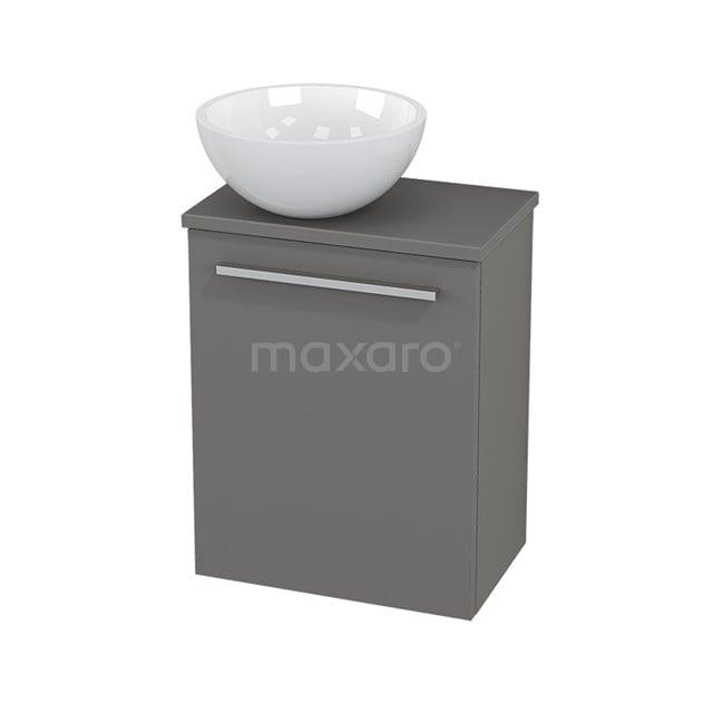 Toiletmeubel met Waskom Mineraalmarmer Glanzend Modulo+ Pico Basalt 41cm BMC000228