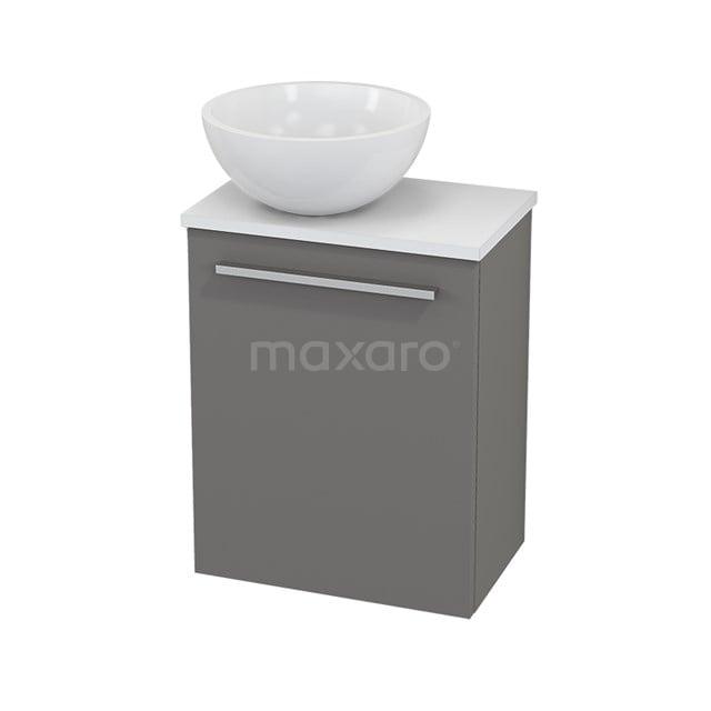 Toiletmeubel met Waskom Mineraalmarmer Glanzend Modulo+ Pico Basalt 41cm BMC000235