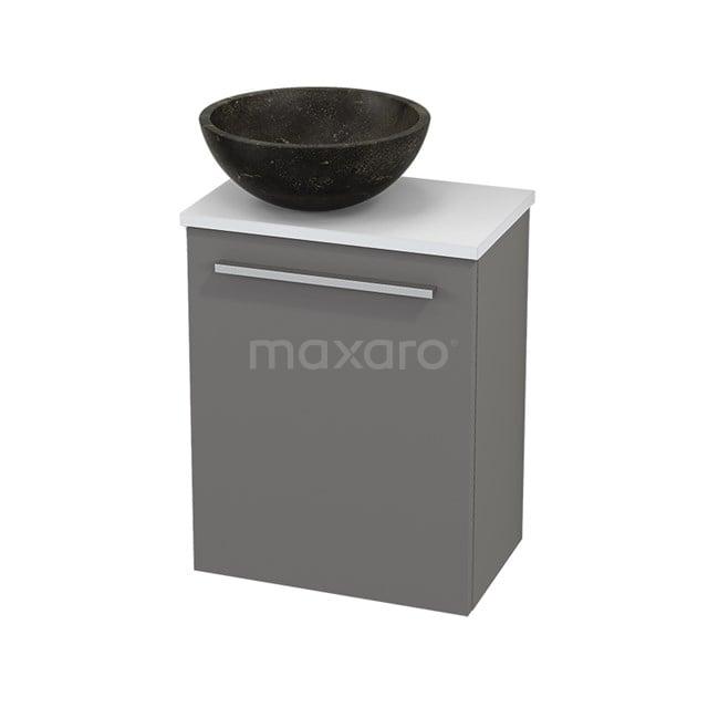 Toiletmeubel met Waskom Natuursteen Modulo+ Pico Basalt 41cm BMC000237