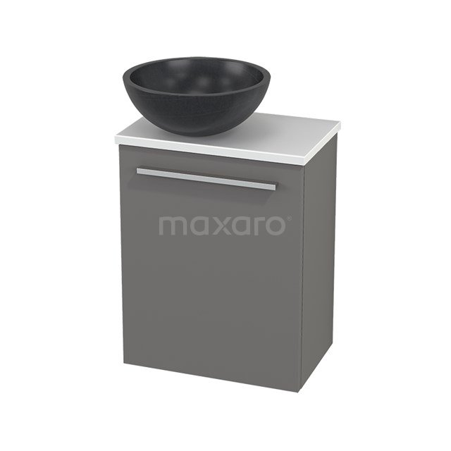 Toiletmeubel met Waskom Natuursteen Modulo+ Pico Basalt 41cm BMC000244