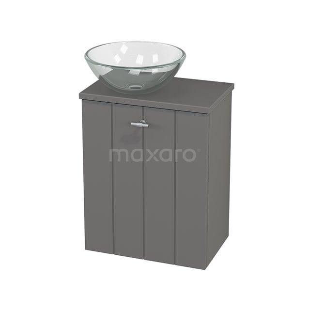 Toiletmeubel met Waskom Glas Modulo+ Pico Basalt 41cm BMC000246