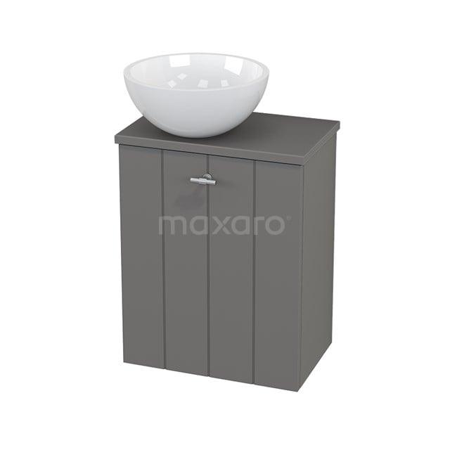 Toiletmeubel met Waskom Mineraalmarmer Glanzend Modulo+ Pico Basalt 41cm BMC000249