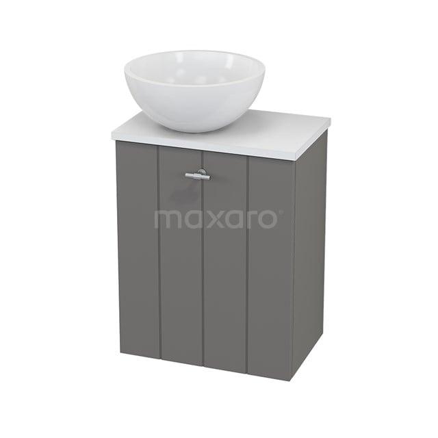Toiletmeubel met Waskom Mineraalmarmer Glanzend Modulo+ Pico Basalt 41cm BMC000256