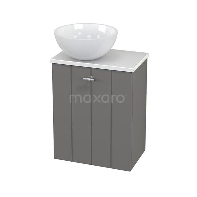 Toiletmeubel met Waskom Mineraalmarmer Glanzend Modulo+ Pico Basalt 41cm BMC000263