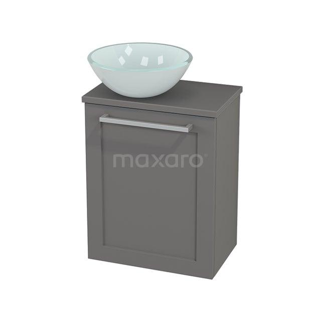 Toiletmeubel met Waskom Glas Modulo+ Pico Basalt 41cm BMC000268