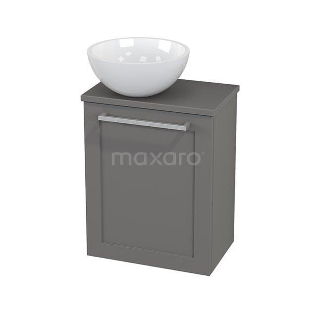 Toiletmeubel met Waskom Mineraalmarmer Glanzend Modulo+ Pico Basalt 41cm BMC000270