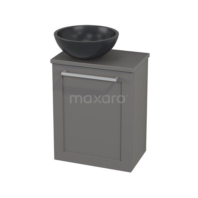 Toiletmeubel met Waskom Natuursteen Modulo+ Pico Basalt 41cm BMC000272