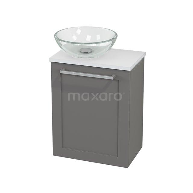 Toiletmeubel met Waskom Glas Modulo+ Pico Basalt 41cm BMC000274