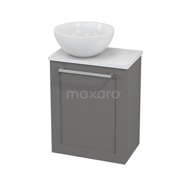 Toiletmeubel met Waskom Mineraalmarmer Glanzend Modulo+ Pico Basalt 41cm BMC000277