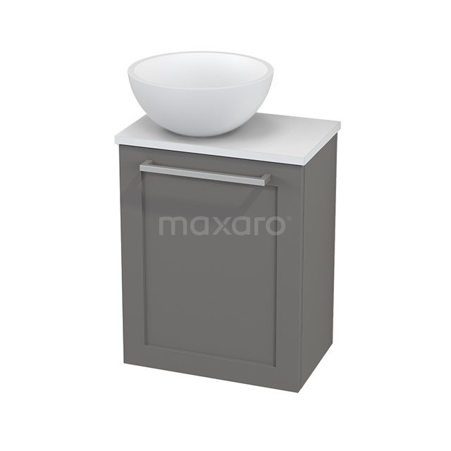 Toiletmeubel met Waskom Solid Surface Mat Modulo+ Pico Basalt 41cm BMC000278