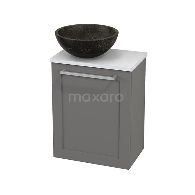 Toiletmeubel met Waskom Natuursteen Modulo+ Pico Basalt 41cm BMC000279