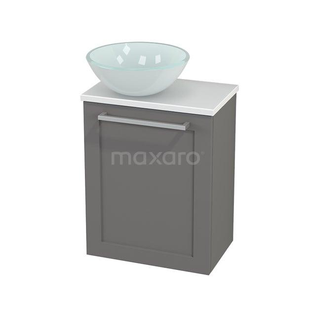Toiletmeubel met Waskom Glas Modulo+ Pico Basalt 41cm BMC000282