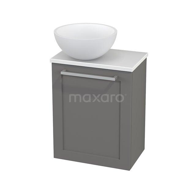 Toiletmeubel met Waskom Solid Surface Mat Modulo+ Pico Basalt 41cm BMC000285