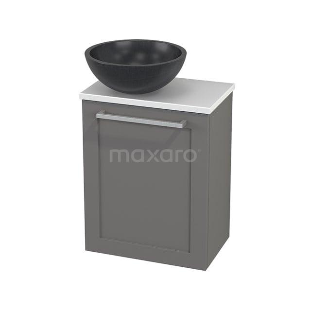 Toiletmeubel met Waskom Natuursteen Modulo+ Pico Basalt 41cm BMC000286