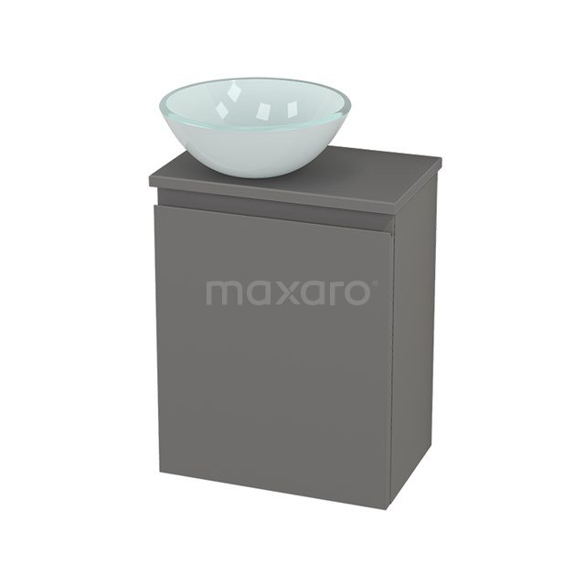 Toiletmeubel met Waskom Glas Modulo+ Pico Basalt 41cm BMC001267