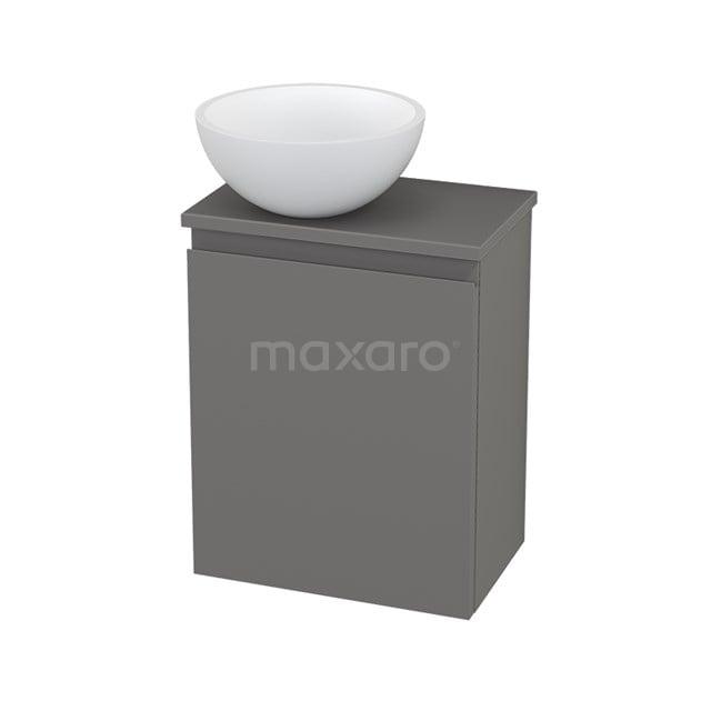 Toiletmeubel met Waskom Solid Surface Mat Modulo+ Pico Basalt 41cm BMC001444