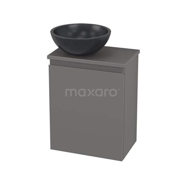 Toiletmeubel met Waskom Natuursteen Modulo+ Pico Basalt 41cm BMC000293