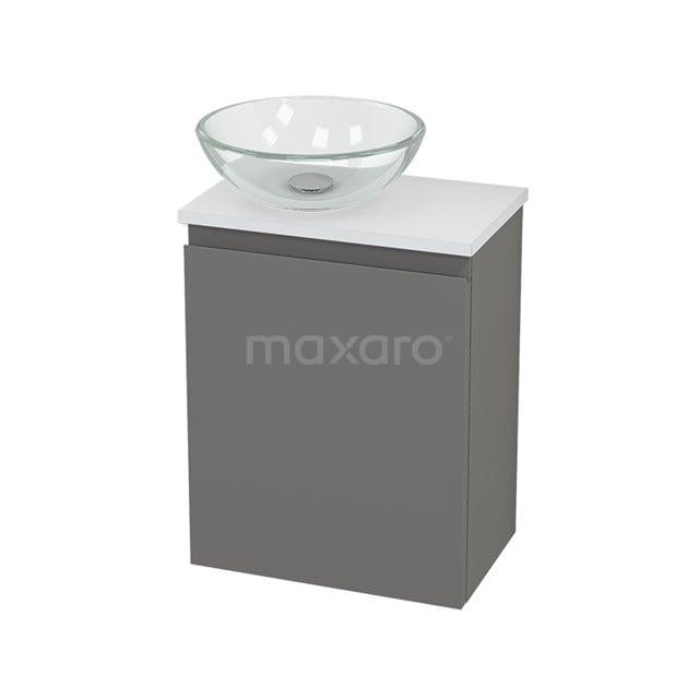 Toiletmeubel met Waskom Glas Modulo+ Pico Basalt 41cm BMC000295
