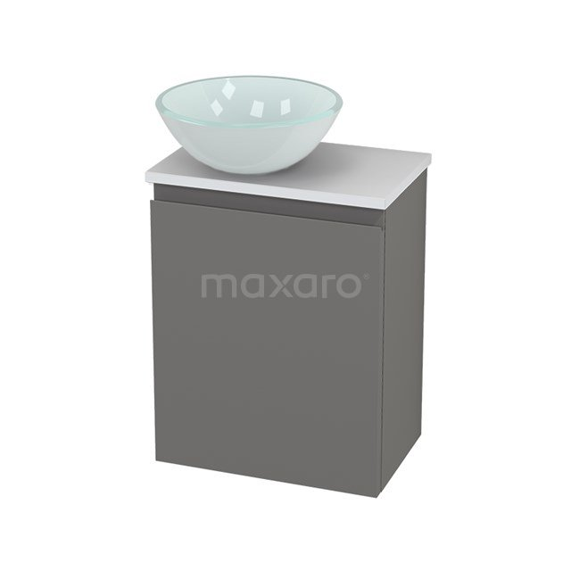 Toiletmeubel met Waskom Glas Modulo+ Pico Basalt 41cm BMC000296