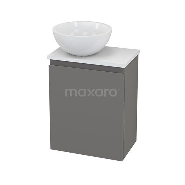 Toiletmeubel met Waskom Mineraalmarmer Glanzend Modulo+ Pico Basalt 41cm BMC001305