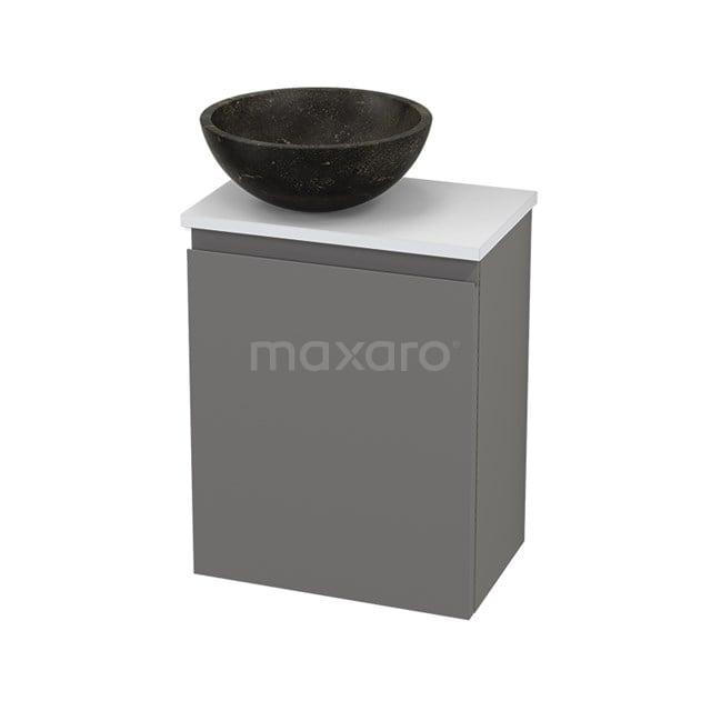 Toiletmeubel met Waskom Natuursteen Modulo+ Pico Basalt 41cm BMC001306