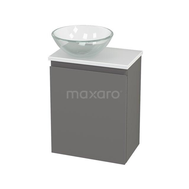 Toiletmeubel met Waskom Glas Modulo+ Pico Basalt 41cm BMC001272
