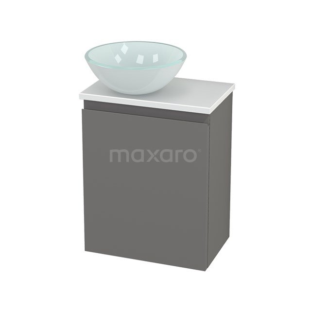 Toiletmeubel met Waskom Glas Modulo+ Pico Basalt 41cm BMC000303