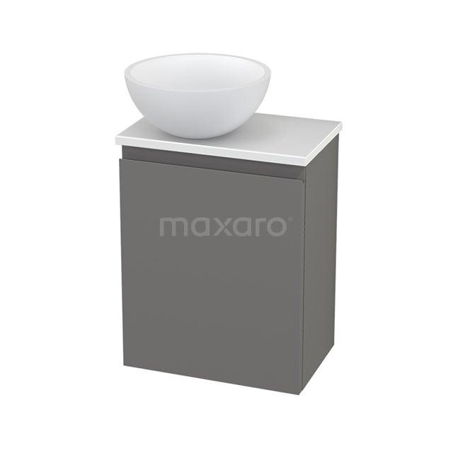 Toiletmeubel met Waskom Solid Surface Mat Modulo+ Pico Basalt 41cm BMC000306