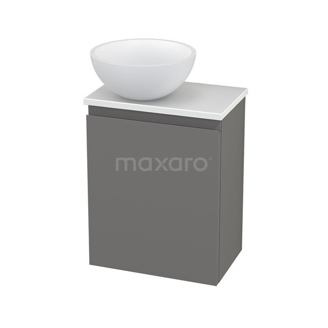 Toiletmeubel met Waskom Solid Surface Mat Modulo+ Pico Basalt 41cm BMC001445