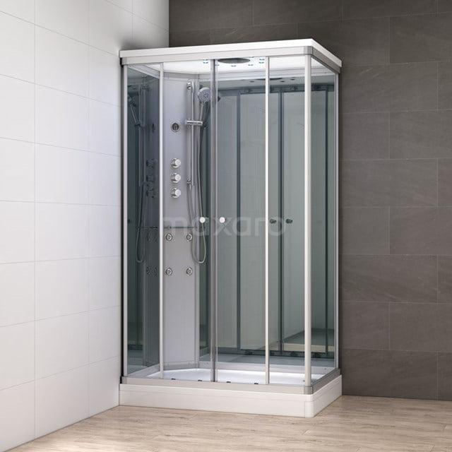 Complete Douchecabine 140x90cm Spiegelglas Modera Watermassage LED Verlichting AK1409-422101