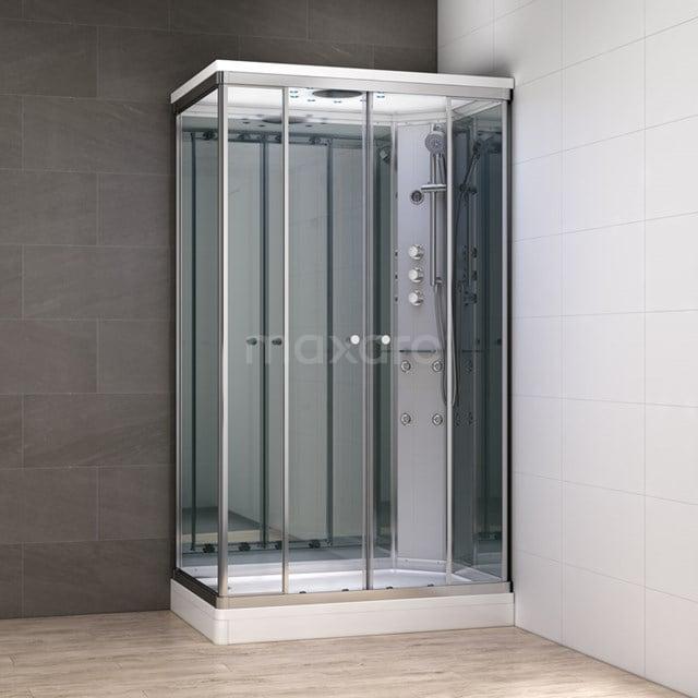 Complete Douchecabine 140x90cm Spiegelglas Modera Watermassage LED Verlichting AK1409-422102