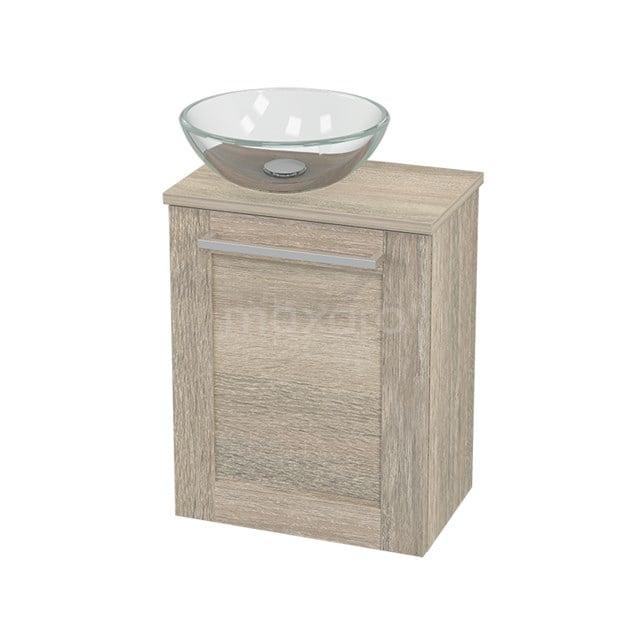Toiletmeubel met Waskom Glas Modulo+ Pico Eiken 41cm BMC000414