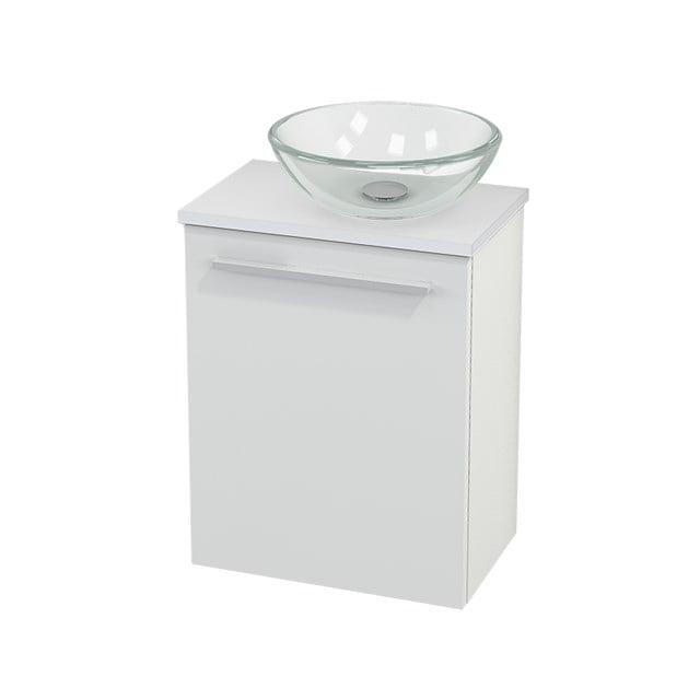 Toiletmeubel met Waskom Glas Modulo+ Pico Hoogglans Wit 41cm BMC000435