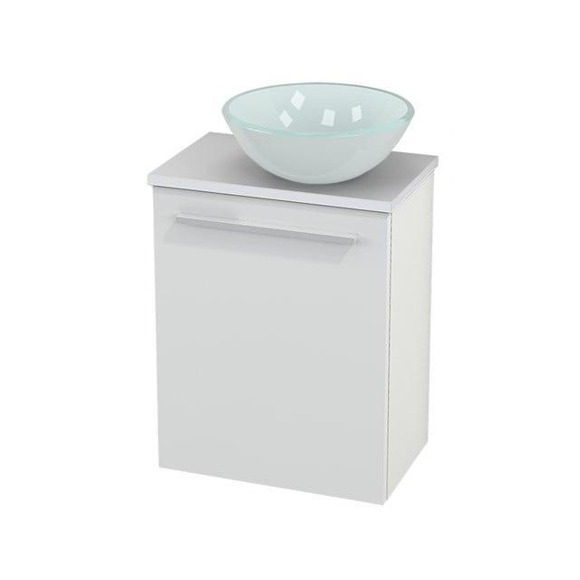 Toiletmeubel met Waskom Glas Modulo+ Pico Hoogglans Wit 41cm BMC000436