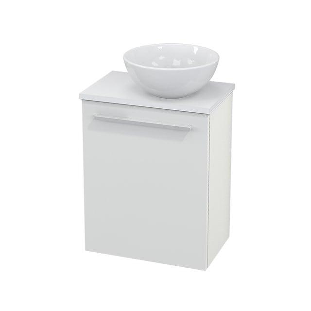 Toiletmeubel met Waskom Keramiek Modulo+ Pico Hoogglans Wit 41cm BMC000437