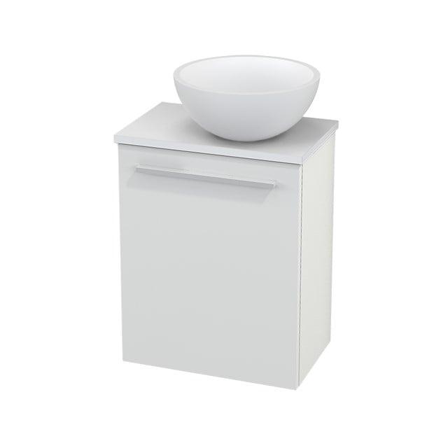 Toiletmeubel met Waskom Solid Surface Mat Modulo+ Pico Hoogglans Wit 41cm BMC000439