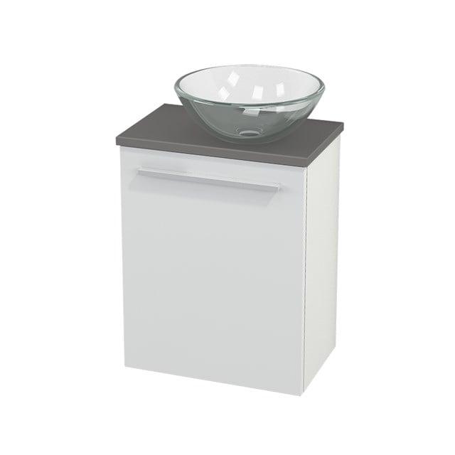 Toiletmeubel met Waskom Glas Modulo+ Pico Hoogglans Wit 41cm BMC000442