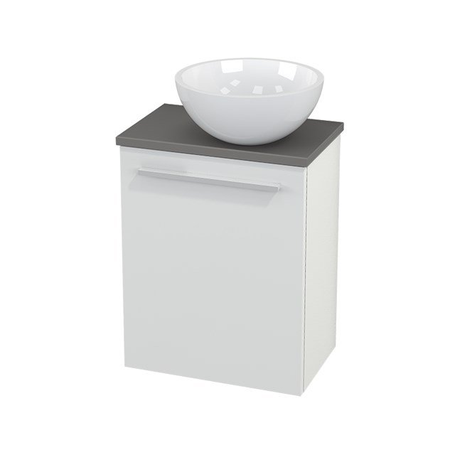 Toiletmeubel met Waskom Mineraalmarmer Glanzend Modulo+ Pico Hoogglans Wit 41cm BMC000445
