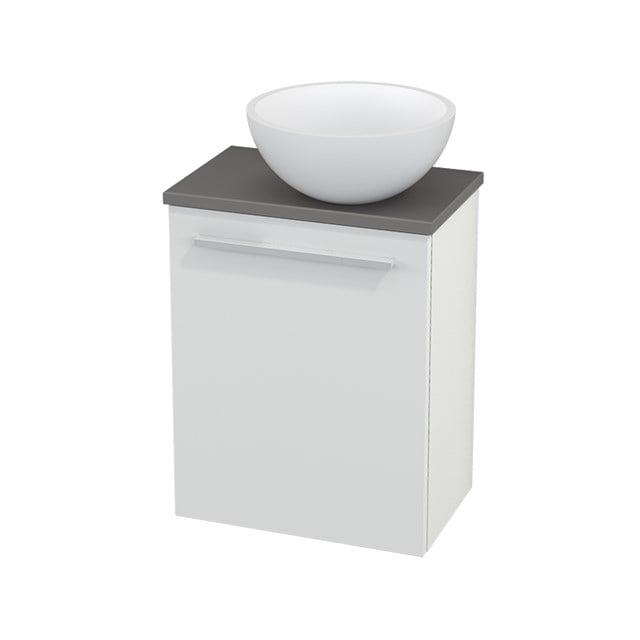 Toiletmeubel met Waskom Solid Surface Mat Modulo+ Pico Hoogglans Wit 41cm BMC000446
