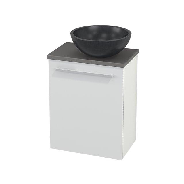 Toiletmeubel met Waskom Natuursteen Modulo+ Pico Hoogglans Wit 41cm BMC000447