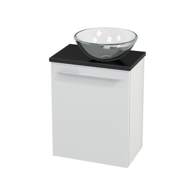 Toiletmeubel met Waskom Glas Modulo+ Pico Hoogglans Wit 41cm BMC000449