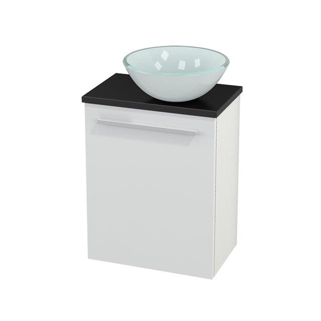 Toiletmeubel met Waskom Glas Modulo+ Pico Hoogglans Wit 41cm BMC000450