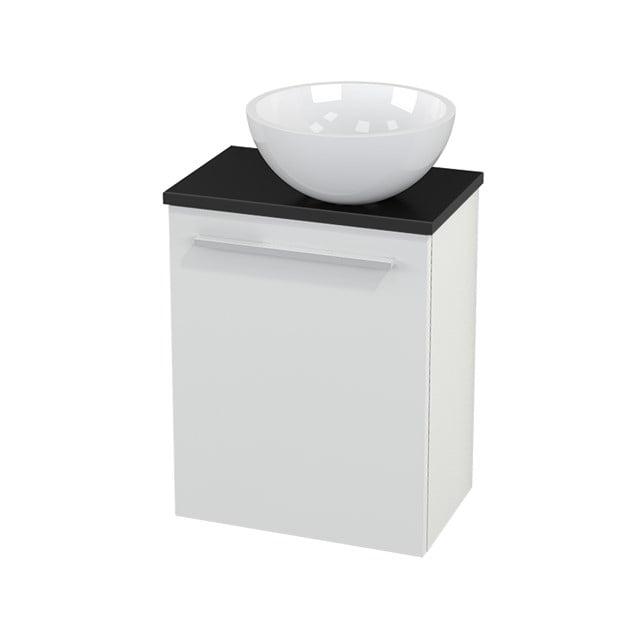 Toiletmeubel met Waskom Mineraalmarmer Glanzend Modulo+ Pico Hoogglans Wit 41cm BMC000452