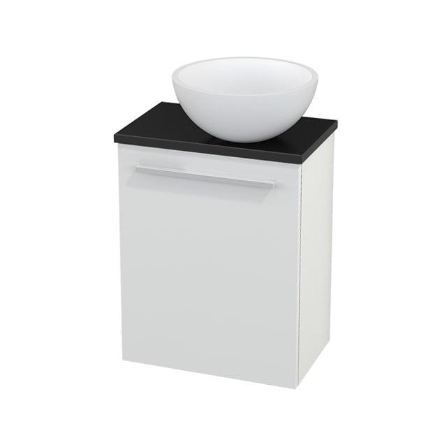 Toiletmeubel met Waskom Solid Surface Mat Modulo+ Pico Hoogglans Wit 41cm BMC000453