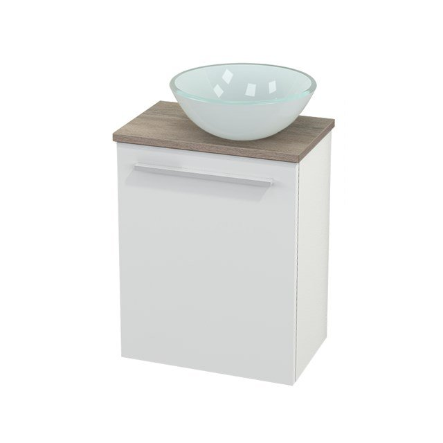 Toiletmeubel met Waskom Glas Modulo+ Pico Hoogglans Wit 41cm BMC000457