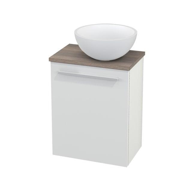 Toiletmeubel met Waskom Solid Surface Mat Modulo+ Pico Hoogglans Wit 41cm BMC000460
