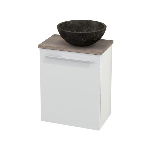 Toiletmeubel met Waskom Natuursteen Modulo+ Pico Hoogglans Wit 41cm BMC000461