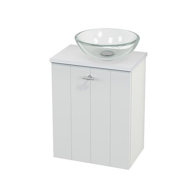 Toiletmeubel met Waskom Glas Modulo+ Pico Hoogglans Wit 41cm BMC000463